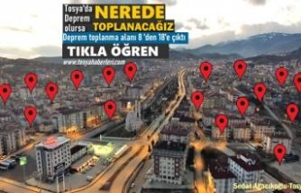 SON DAKİKA- TOSYA'DA DEPREM TOPLANMA YERLERİ
