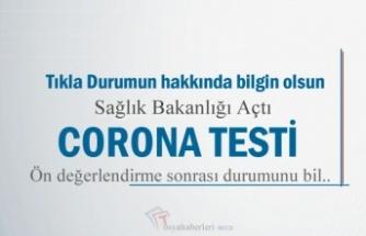 TIKLA - CORANA TESTİ YAP- SAĞLIK BAKANLIĞI