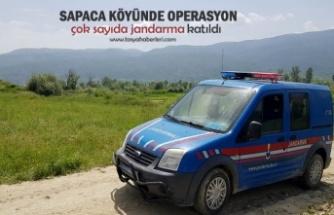 Tosya Sapaca Köyünde Operasyon
