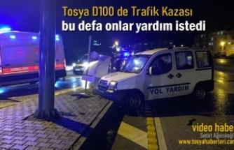 Tosya'da Trafik Kazasında Yol Yardım Ekipleri Yaralandı