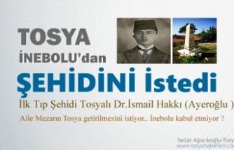 Tosya'lı Aile İnebolu'dan Şehidini İstedi