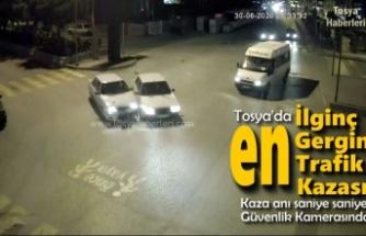 Tosya'da Trafik Kazası Saniye Saniye O Anlar