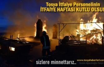TOSYA İTFAİYESİNİN İTFAİYE HAFTASI KUTLU OLSUN