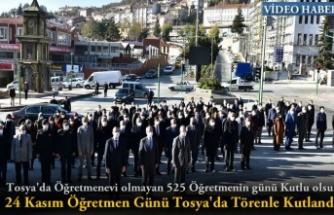 24 Kasım Öğretmenler Günü Tosya'da Törenle Kutlandı