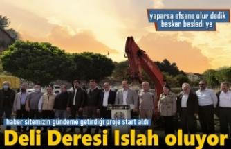 TOSYA DELİ DERESİ ISLAH ÇALIŞMASI BAŞLADI