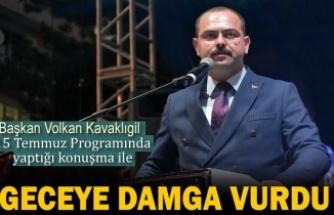Tosya'da 15 Temmuz Demokrasi Pragramına Belediye Başkanı Konuşması