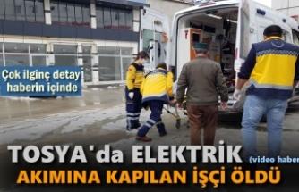 Tosya'da Elektrik Akımına Kqapılan işçi Öldü