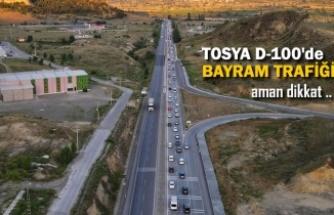 TOSYA D100 KARAYOLUNDA BAYRAM TRAFİĞİ