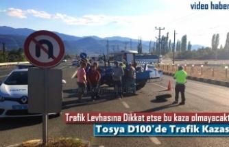 TOSYA D100 KARAYOLU TRAKTÖR KAZASI