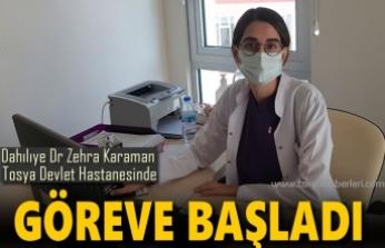 DAHİLİYE DOKTORU ZEHRA KARAMAN HASTA KABULÜNE BAŞLADI