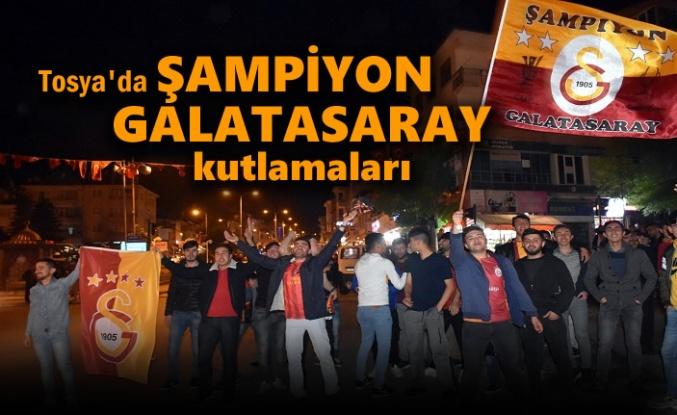 Tosya'da Galatasaray'ın Şampiyonluk Kutlamaları