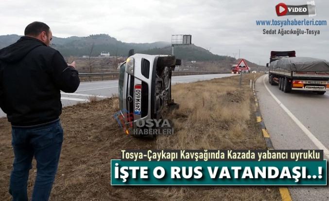 Tosya-Çaykapı Kavşağında Kazada Rus Vatandaşı