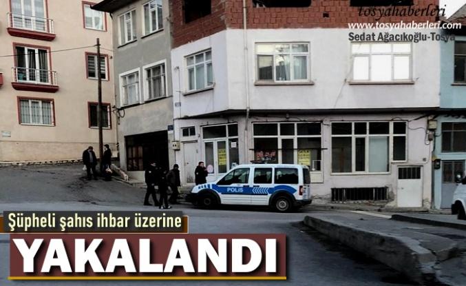 Tosya'da Şüpheli Şahıs İhbar Üzerine Emniyet Götürüldü