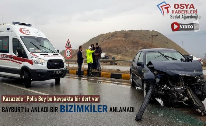 Tosya Yeni Sanayi Kavşağında Trafik Kazası Meydana Geldi
