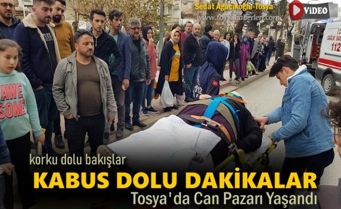 Tosya'da Trafik Kazasında Kabus Dolu Dakikalar Yaşandı