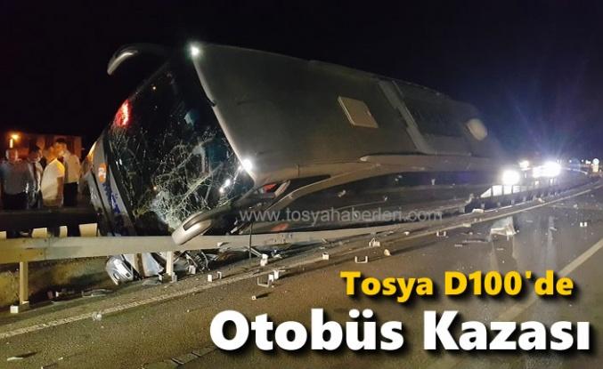 TOSYA D100'DE OTOBÜS KAZASI