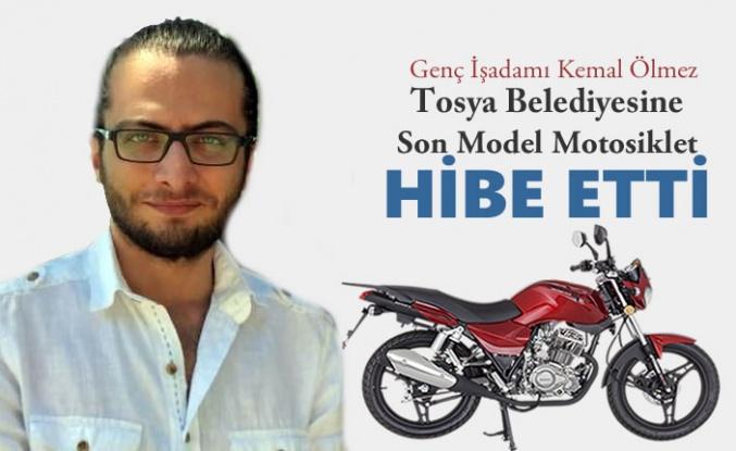 TOSYA BELEDİYESİNE MOTOSİKLET HİBE EDİLDİ