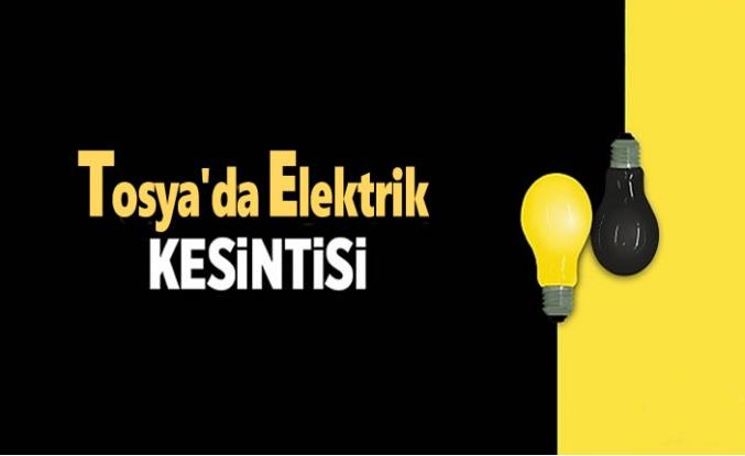 TOSYA'DA PLANLI ELEKTRİK KESİNTİSİ