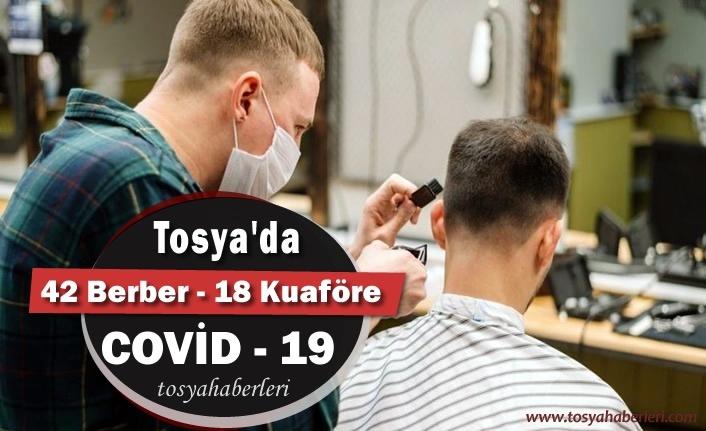 Tosya'da Berber ve Kuaförlere COVİD-19 Testi Yapıldı