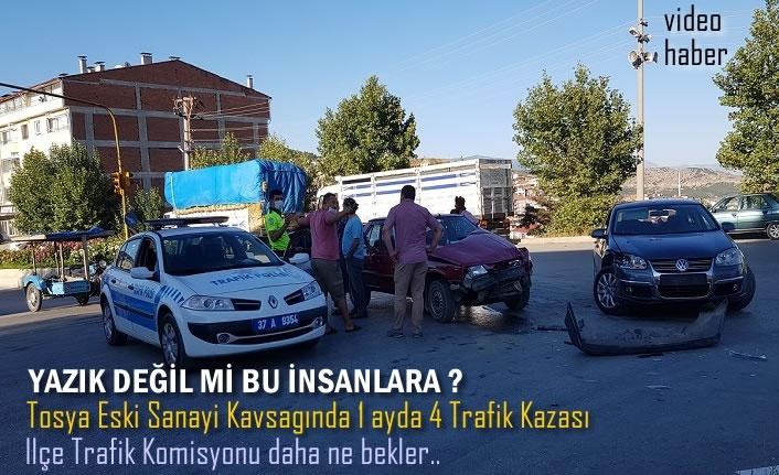 Tosya Eski Sanayi Kavşağaı Yaralamalı Trafik Kazası