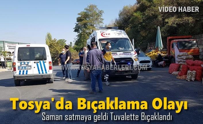 TOSYA'YA SAMAN SATMAYA GELDİ BIÇAKLANDI