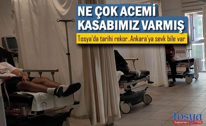 Tosya'da Acemi Kasaplar Soluğu Hastanede Aldı