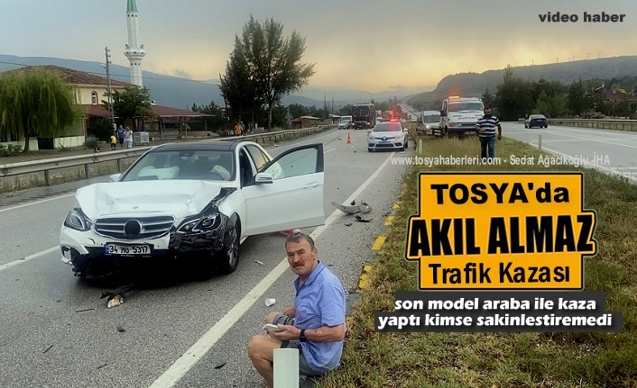 TOSYA D100'DE KAZA SONRASI KİMSE SAKİNLEŞTİREMEDİ