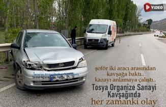 Tosya Organize Sanayi Trafik Kazası Şoför Şaşkın