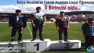 Tosya Mesleki ve Teknik Anadolu Lisesi Öğrencisi birinci oldu