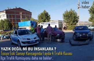 Tosya Eski Sanayi Kavşağı Trafik Kazası