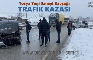 Tosya Yeni Sanayi Kavşağı Trafik Kazası